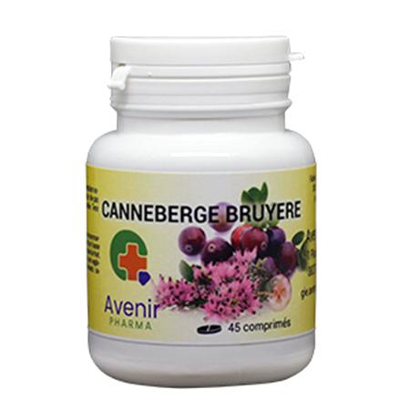 Avenir Pharma Canneberge Bruyère, 45 comprimés