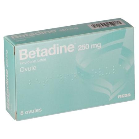 BETADINE 250 mg : prix, notice, effets secondaires
