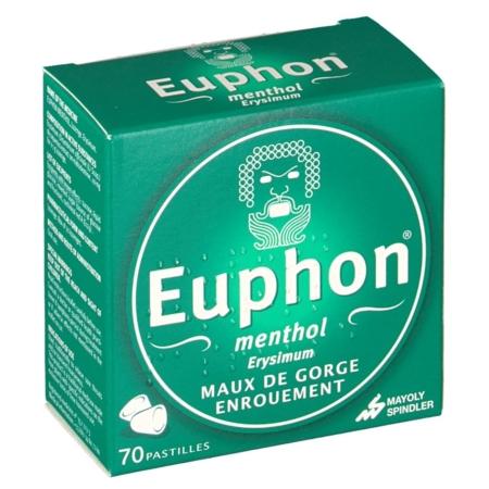 EUPHON MENTHOL : prix, notice, effets secondaires