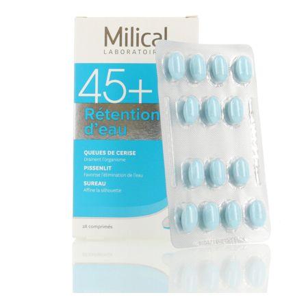 Prix de Milical segment 45+ rétention d'eau 28 comprimés