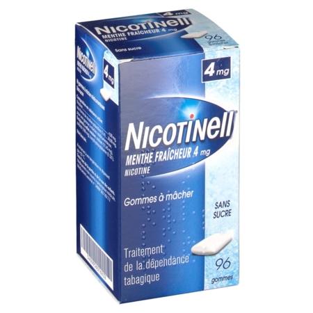 NICOTINELL MENTHE FRAICHEUR 4 mg SANS SUCRE : prix, notice
