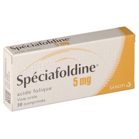 SPECIAFOLDINE 5 mg : prix, notice, effets secondaires
