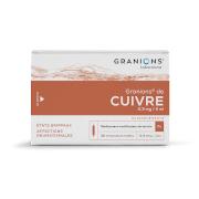 Granions cuivre 0 mg3/2ml solution buvable, 30 ampoules