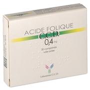 Acide folique ccd 0,4 mg, 30 comprimés