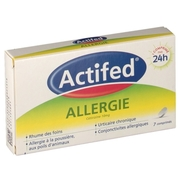 Actifed allergie cetirizine 10 mg, 7 comprimés pelliculés sécables