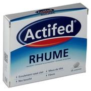 Actifed rhume, 15 comprimés