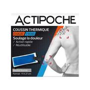 Actipoche Coussin Thermique Chaud / Froid Soulage la Douleur, 11 x 27 cm