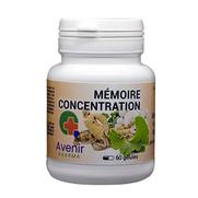 Avenir Pharma Mémoire Concentration, 60 gélules