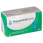 Aquarest 0,2 %, 60 unidoses de gel ophtalmique