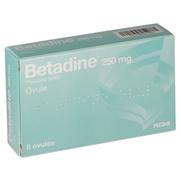 Betadine 250 mg, 8 ovules
