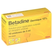 Betadine dermique 10 %, flacon de 125 ml de solution pour application locale