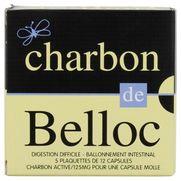 Charbon de belloc 125 mg, 60 capsules molles