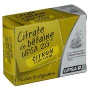 Citrate de betaine citron upsa 2 g sans sucre, 20 comprimés effervescents