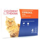 Clément Thékan Fiprokil chat, etui de 4 pipettes de 0,50ml