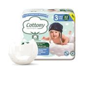 Cottony Couche Bébé Taille 3 4-8 kg, x32 Couches