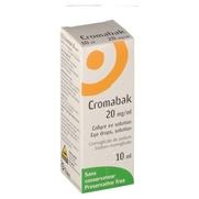 Cromabak 20 mg/ml, flacon de 10 ml de collyre