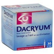 Dacryum, 30 récipients unidose de solution pour lavage ophtalmique