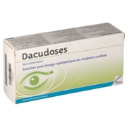 Dacudoses, 24 récipients unidose de solution pour lavage ophtalmique