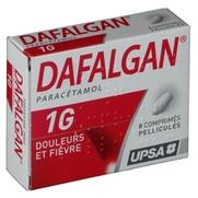 Dafalgan 1 g, 8 comprimés pelliculés