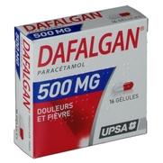 Dafalgan 500 mg, 16 gélules