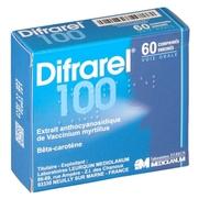 Difrarel 100 mg, 20 comprimés enrobés