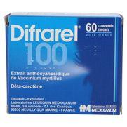 Difrarel 100 mg, 60 comprimés enrobés