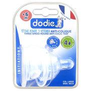 Dodie tétines initiation+ easy air silicone débit rapide (4) liquide épais - x 2