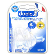 Dodie tétines initiation+ easy air silicone débit moyen (2) - x 2
