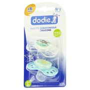 Dodie sucette silicone nuit 2age, x 2