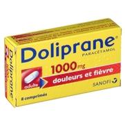 Doliprane 1000 mg, 8 comprimés