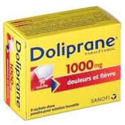 Doliprane 1000 mg, 8 sachets