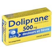 Doliprane 500 mg, 16 comprimés