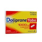Dolipranetabs 1000 mg, 8 comprimés pelliculés