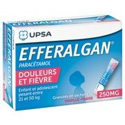Efferalgan vanille fraise 250 mg, granulés en sachet