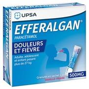 Efferalgan vanille fraise 500 mg, granulés en sachet