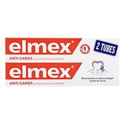 Elmex Protection Caries Dentifrice, 2 x 75 ml