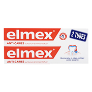 Elmex protection caries dentifrice, 2 x 75 ml