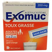 Exomuc Toux Grasse 200 mg, 24 sachets