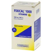 Fixical vitamine d3 1000 mg/800 ui, 30 comprimés à sucer