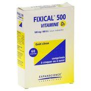 Fixical vitamine d3 500 mg/400 ui, 60 comprimés à croquer ou à sucer