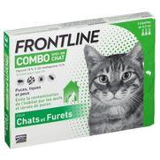 Frontline combo chat anti-puces et tiques - 3 pipettes