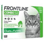 Frontline combo chat anti-puces et tiques - 6 pipettes