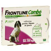 Frontline combo chien l anti-puces et tiques - 3 pipettes