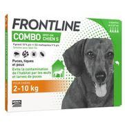 Frontline combo chiens anti-puces et tiques - 6 pipettes