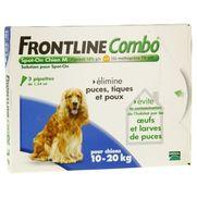 Frontline combo chien m anti-puces et tiques - 3 pipettes