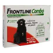 Frontline combo chien xl anti-puces et tiques - 3 pipettes
