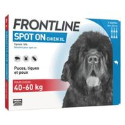 Frontline spot-on xl chien de 40-60 kg - 4 pipettes