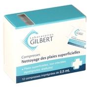 Gilbert etui de 12 compresses pour plaies superficielles 2,5ml