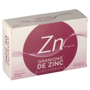 Granions zinc 15 mg/2ml solution buvable, 30 ampoules