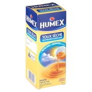 Humex adultes toux seche dextromethorphane, flacon de 200 ml de sirop